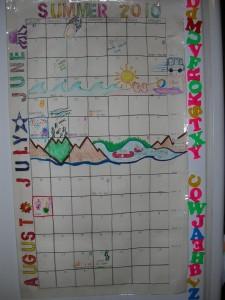 Our Summer Calendar