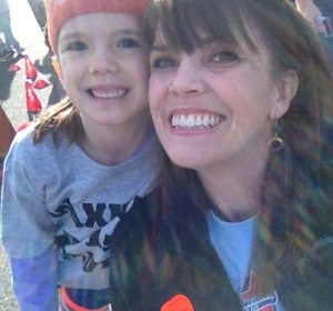 Anika and I are at school during the Boosterthon Fun Run fundraiser.